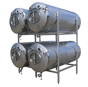 Maturation tank, bright beer tank , horizontal