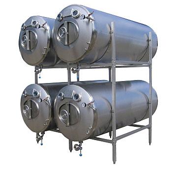 Maturation tank, bright beer tank , horizontal