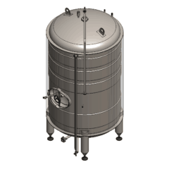 BBTVI-15000C Cylindrical storage tank, vertical, insulated 15000/16660L