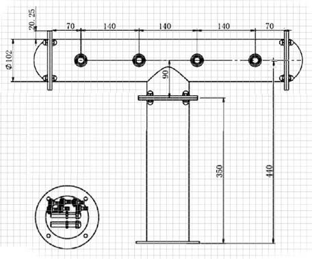 BDT-CT4V-Dimensiounen