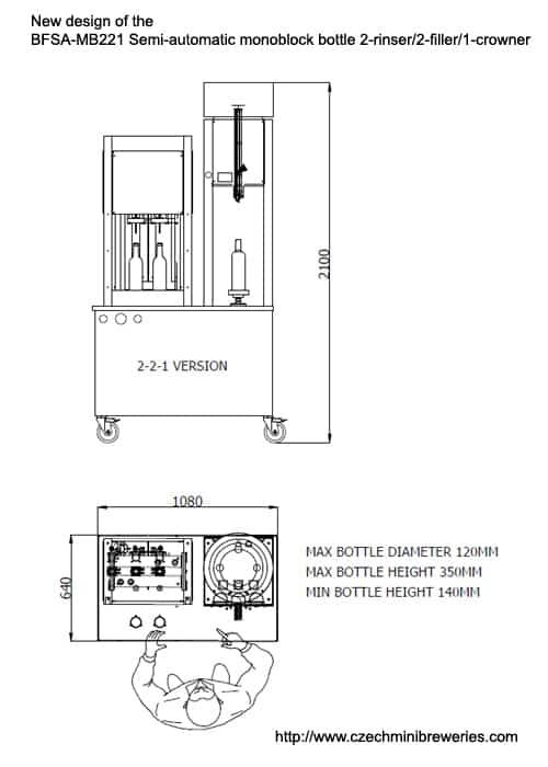 BFSA-MB221-dimensioner