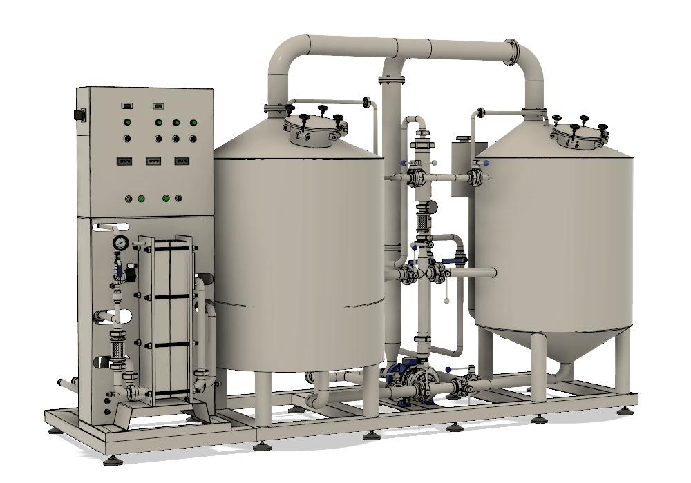 Pivovar BREWORX LITE-ECO - zařízení na výrobu mladiny s kompaktním zjednodušeným designem