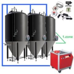CFSOT1-4xCCT2000C Complete set for the fermentation of beer with 4x CCT-2000C, on-tank control