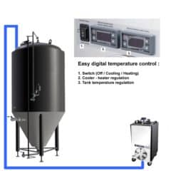 CFSCT1-1xCCT100C Complete fermentation set with 1x CCT-100C, direct cooling