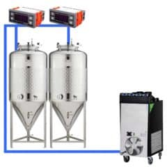 CFSCT1-2xCCT100SLP : Complete fermentation set with 2pcs of CCT-SLP 120 liters, direct cooling
