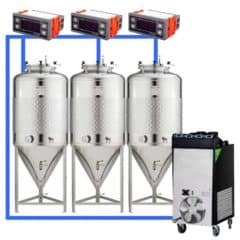 CFSCT1-3xCCT500SLP : Complete fermentation set with 3pcs of CCT-SLP 625 liters, direct cooling