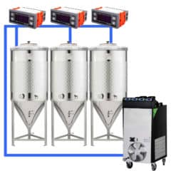 CFSCT1-3xCCT500SNP : Complete fermentation set with 3pcs of CCT-SNP 625 liters, direct cooling