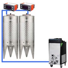 CFSCT1-2xCFT100SNP : Complete fermentation set with 2pcs of CFT-SNP 120 liters, direct cooling