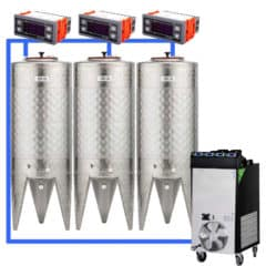CFSCT1-3xCFT100SNP : Complete fermentation set with 3pcs of CFT-SNP 120 liters, direct cooling