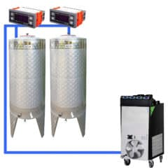 CFSCT1-2xCFT200SNP : Complete fermentation set with 2pcs of CFT-SNP 240 liters, direct cooling
