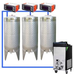 CFSCT1-3xCFT200SNP : Complete fermentation set with 3pcs of CFT-SNP 240 liters, direct cooling