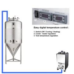 CFSCT1-1xCCT400SLP Complete fermentation set with 1x CCT-400SLP, direct cooling