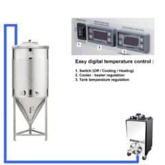 CFSCT1-1xCCT500SNP Complete fermentation set with 1x CCT-500SNP, direct cooling
