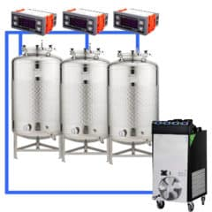 CFSCT1-3xFMT100SLP : Complete fermentation set with 3pcs of FMT-SLP 120 liters, direct cooling