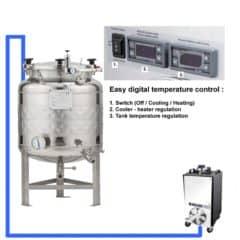 CFSCT1-1xFMT-SHP-100H Complete fermentation-maturation set with 1x FMT-SHP 120 liters, direct cooling