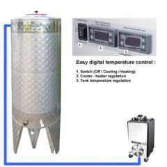 CFSCT1-1xCFT-SNP-500H Complete fermentation set with 1x CFT-SNP 625 liters, direct cooling