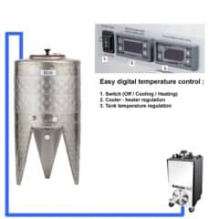 CFSCT1-1xCFT-SNP-50H Complete fermentation set with 1x CFT-SNP-50H, direct cooling