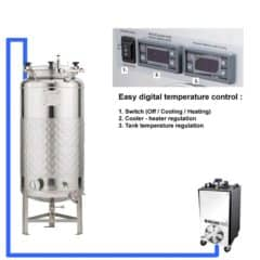CFSCT1-1xFMT-SLP-200H Complete fermentation-maturation set with 1x FMT-SLP-200H, direct cooling