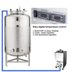 CFSCT1-1xFMT-SLP-500H Complete fermentation-maturation set with 1x FMT-SLP-500H, direct cooling