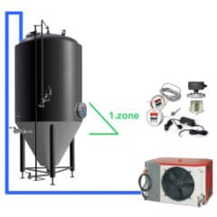 CFSOT1-1xCCT1500C Complete set for the fermentation of beer with 1x CCT-1500C, on-tank control