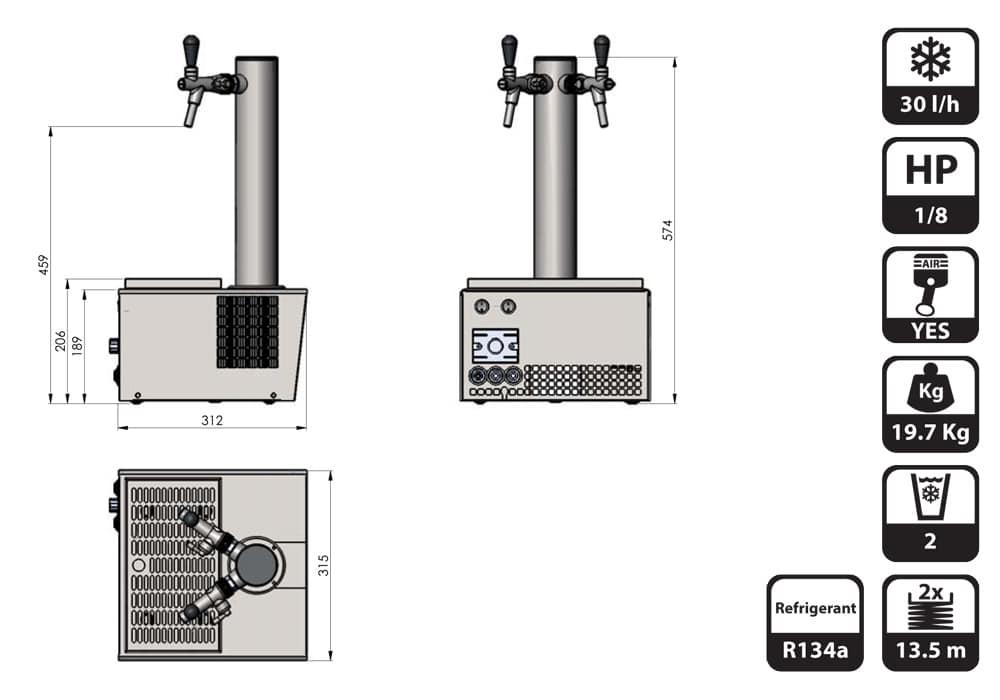 DBCS-ST25AC-dimensions