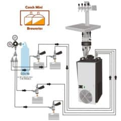 DBWC-C103 Draft Beer Water Cooler 100L/hr for 3 beer lines