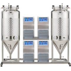 FUIC-SLP4C-2x1000CCT - Fermentointi ja kypsytys itsestään jäähdytetty yksikkö 2 × 1000 / 1170 litraa 1.2-palkki