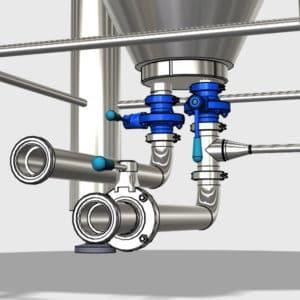 MTS-MVC Butterfly valve block