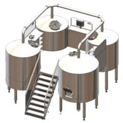 QUADRANT 500MR : Wort brew machine – special type to production wort from malt, rice and hops