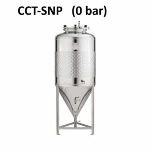 CCT-SNP Cylindrická kuželová nádrž, zjednodušená, neizolovaná, beztlaková