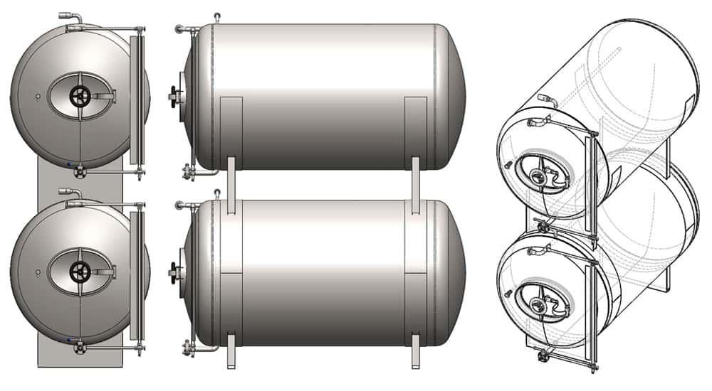 Mbthn 250c Pressure Tank To Maturation Of Beer