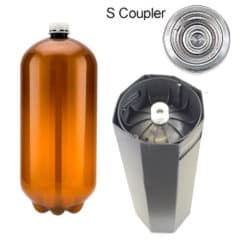 80xPETA-20USDS 80pcs Petainer Keg USD 20升S型耦合器