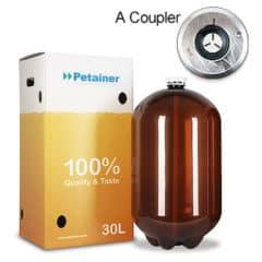 48xPETA-30CLAB 48pcs Petainer Keg 30 litri clasic A cuplaj cu cutie albă