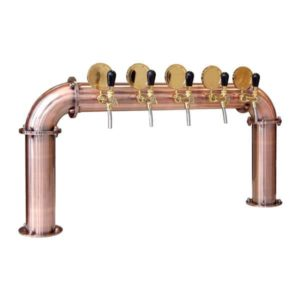 "BDT-BR5V Beverage dispense tower ""Bridge"" for 5pcs of beverage taps"