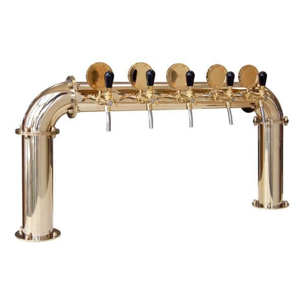 BDT-BR5V Beverage dispense tower Bridge 5-valves : Gold and titanium design