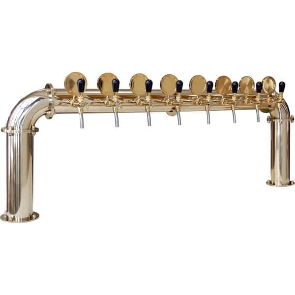BDT-BR8V Beverage dispense tower Bridge 8-valves : Gold and titanium design