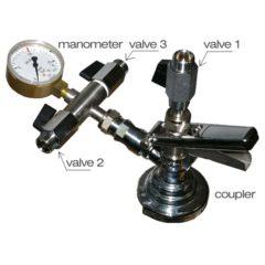 KFM-01: Isobarický dvojitý ventil na plnění piva do sudů a petainerů