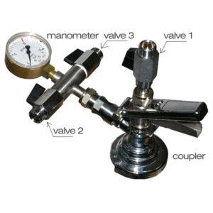 KFM-01 : Isobaric double-valve to filling beer into kegs and petainers