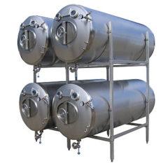MBTHI-400 spiediena tvertne alus pagatavošanai - horizontāla izolēta 400 / 436 litri