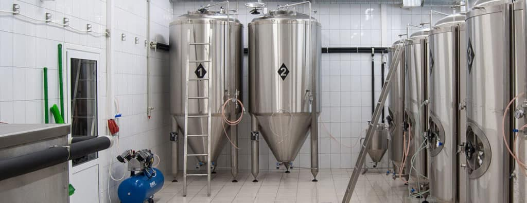 Beer production tanks - vessels intended to production of beer, cider, wine