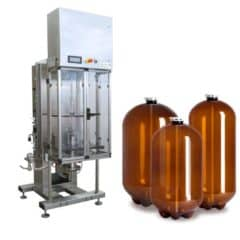 PKF-50 Stroj na automatické plnění plastových sudů 45-55 sudy za hodinu