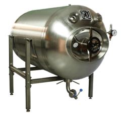MBTHI-400 Druktank tot rijping van het bier - horizontaal geïsoleerd 400 / 436 liters