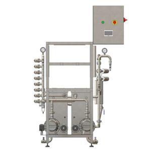 KCA-20D: Stroj na automatické oplachování a plnění kegů 8-20 kegů / hodinu (s dvojitou nádrží na chemické roztoky)