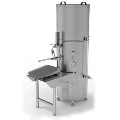 EPBBF-300MG Electric pasteuriser and filling system of BAG-IN-BOX 300 liters/hr