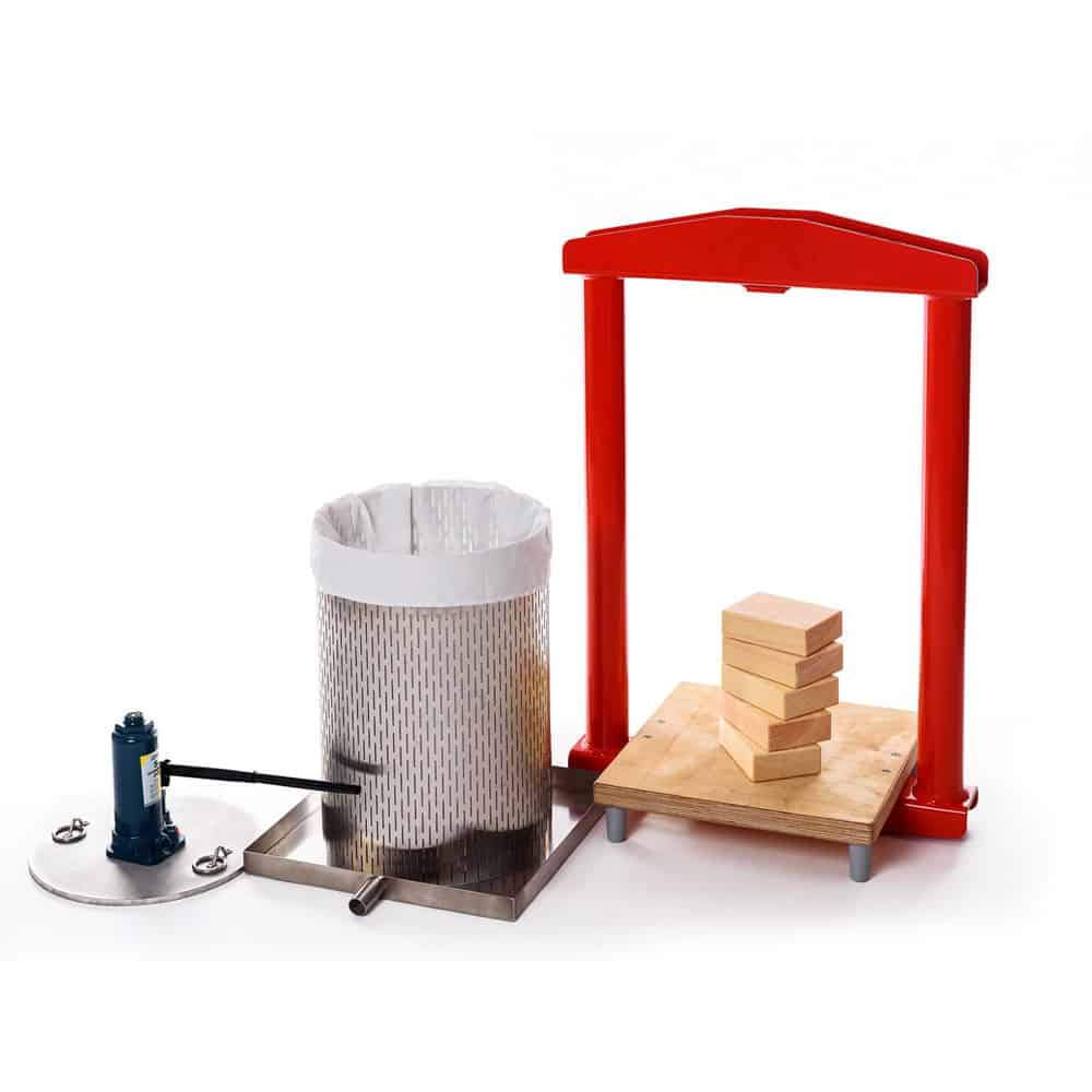 MHP 50S fruit press 04 - MHP-26S Manual hydraulic fruit press 26 liters - stainless steel version
