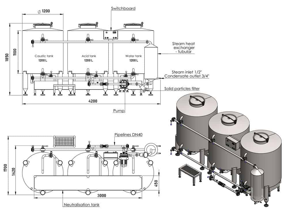 Drawings of the CIP-1003 unit