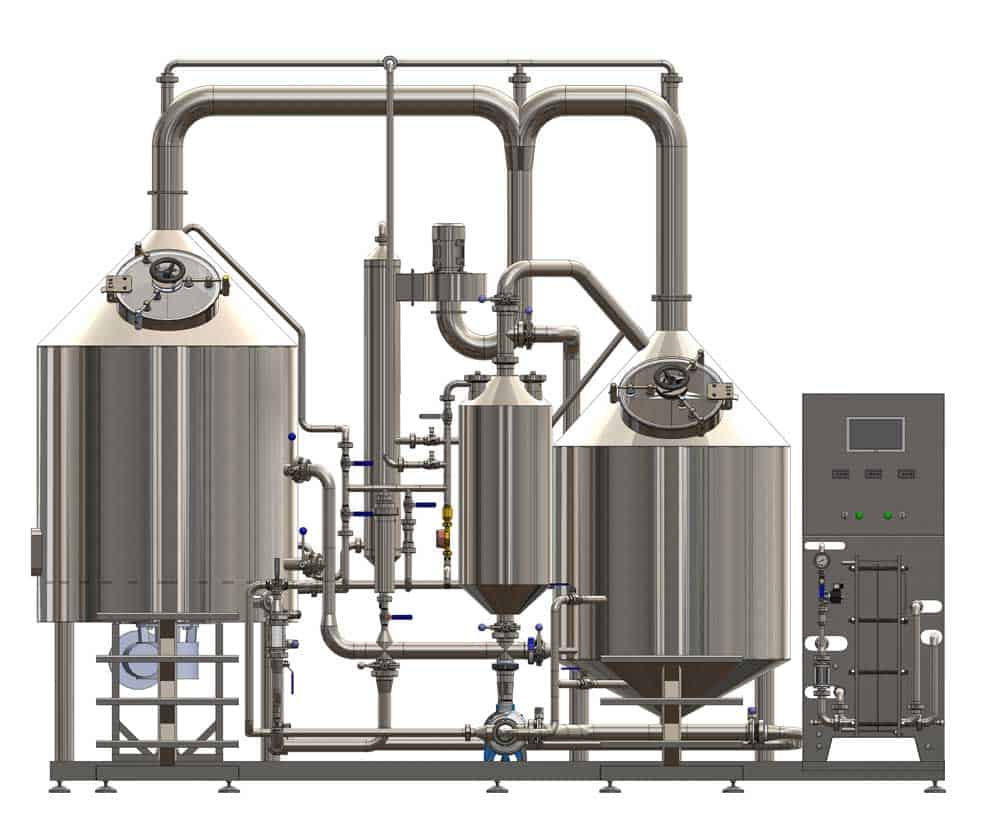 BREWORX CLASSIC-ECO 300 : Compact industrial brewhouse for small restaurants