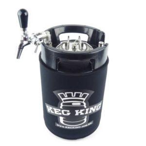 Beer tap for stainless steel pressure kegs