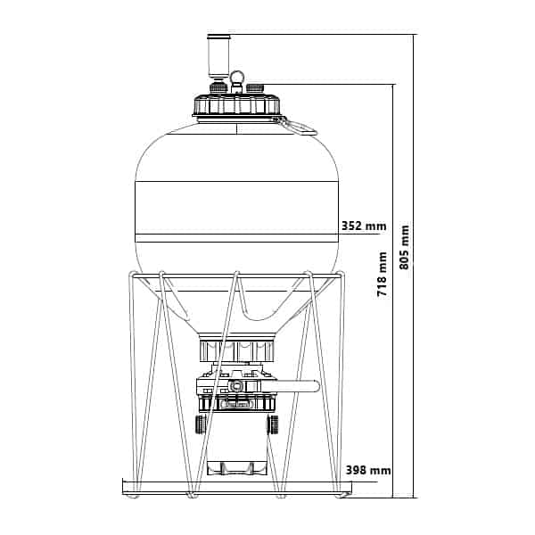 Rozměry startovací sady FermZilla-PFZ-27SK