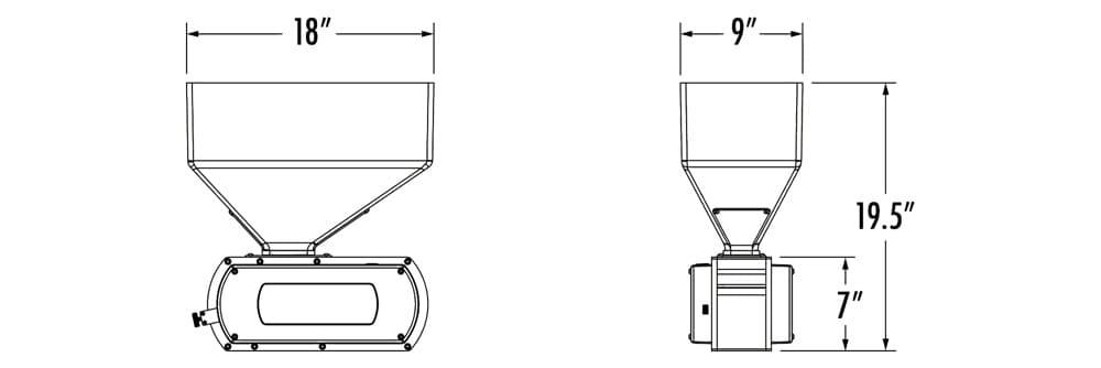 Brewtech malt grist mill dimensions